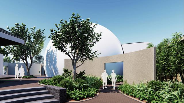 Rendering of Maui Ocean Center dome theater