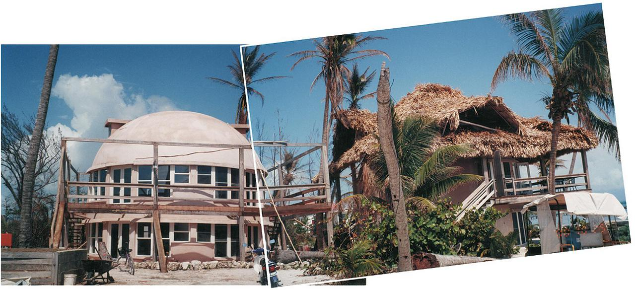 Monolithic Domes undamaged by Hurricane Keith