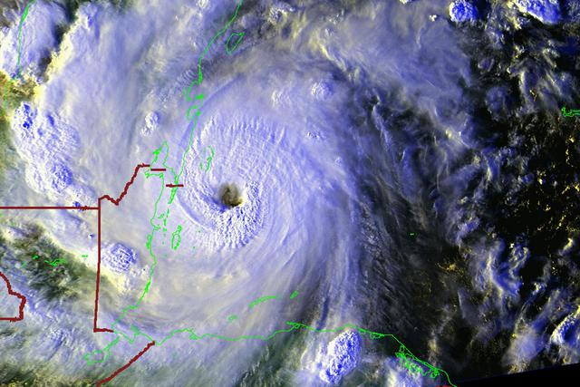 Satellite image of Hurricane Keith