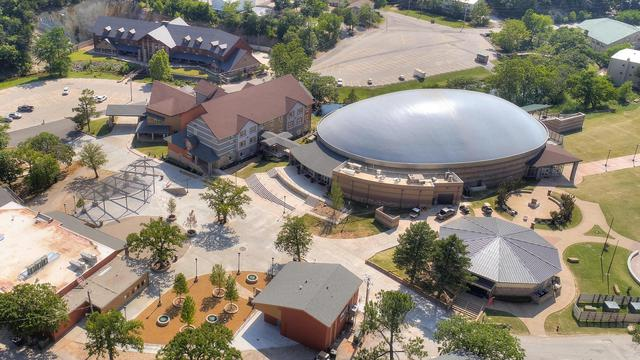 Aerial view of the Mathena Family Event Center