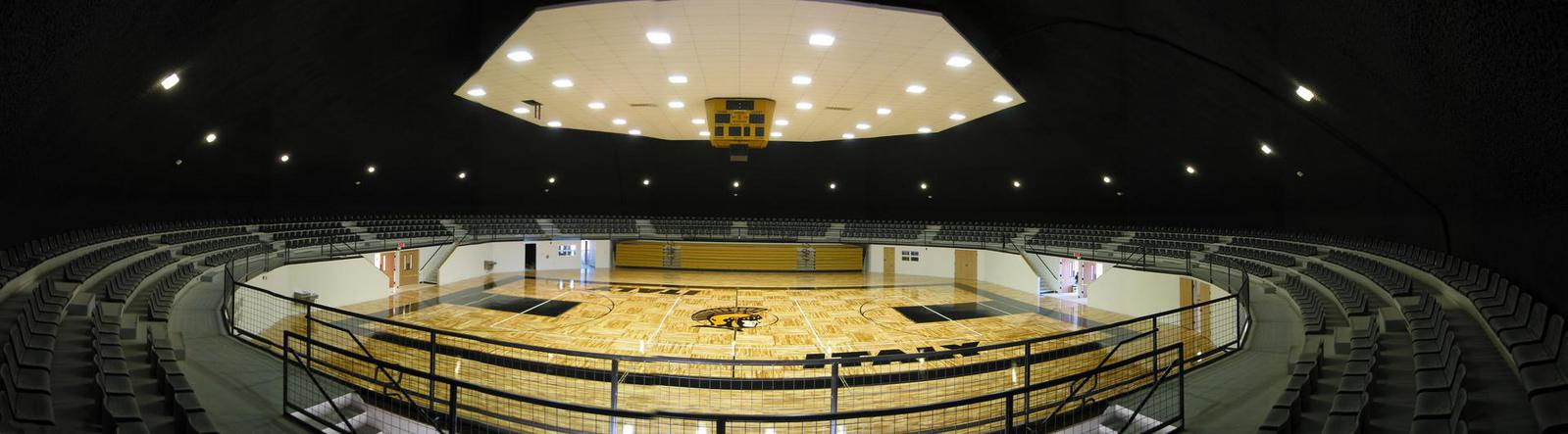 Interior of gym