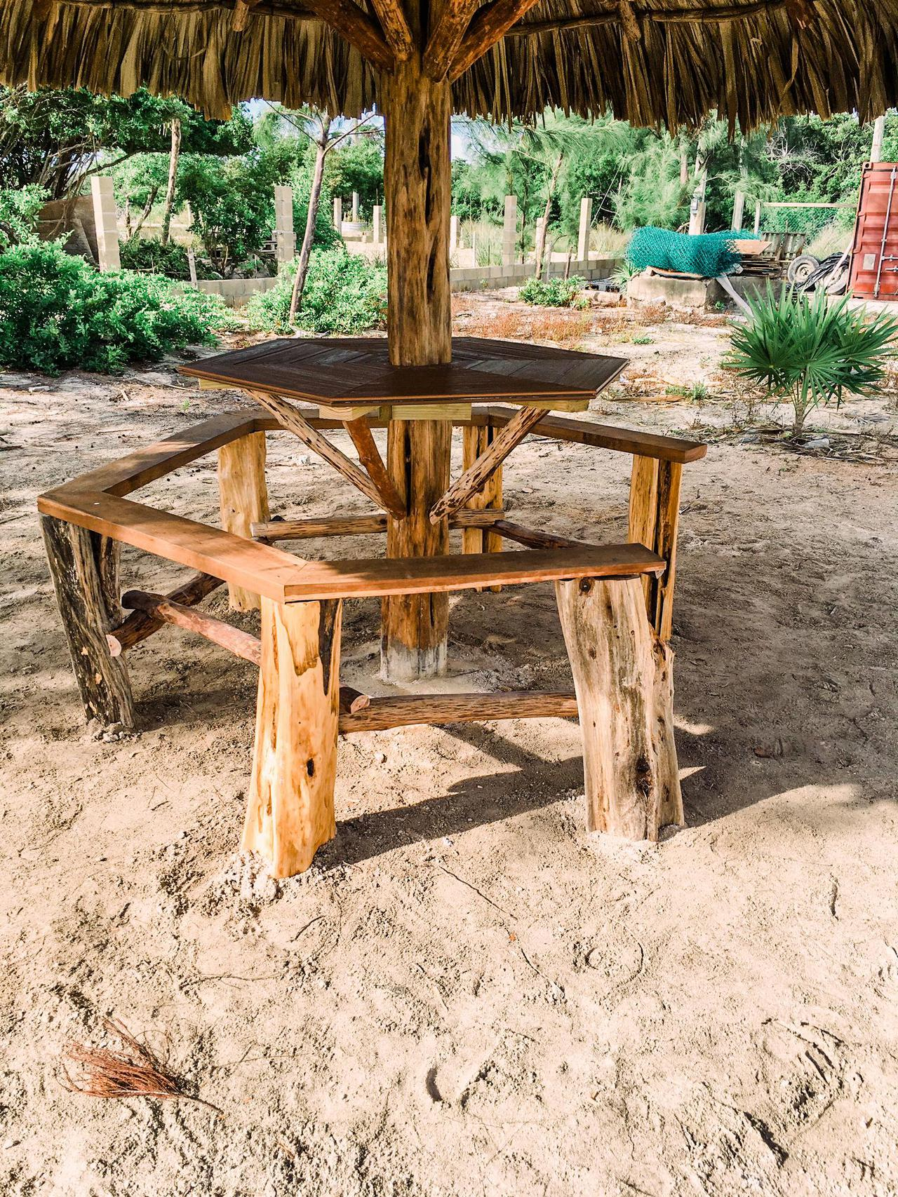 Palapa Pineapple outdoor tables