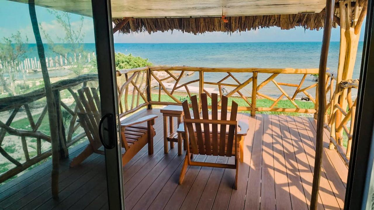 Porch view from Palapa Pineapple Dome Home