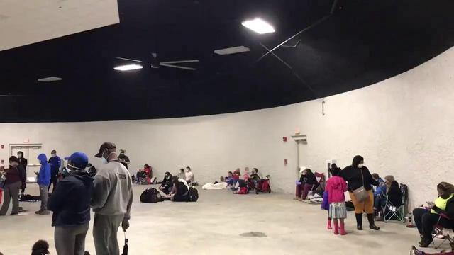 Residents in dome safe room