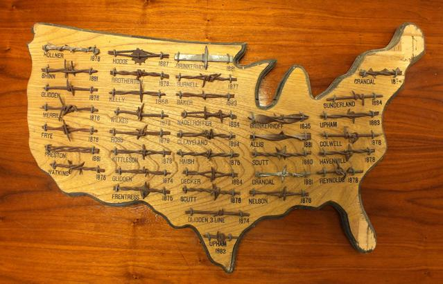 Antique barbed wire plaque