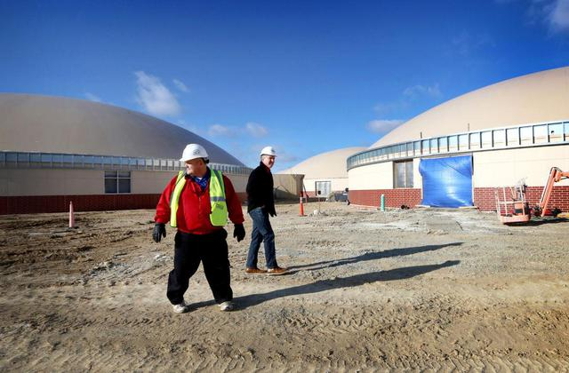 Superintendent Garvey tours school construction
